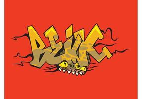 Monster Graffiti Piece