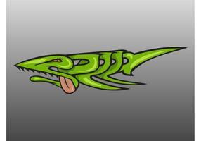 Green Fish Graffiti
