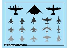 Militärflugzeuge Set