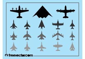 Militära flygplan Sätta