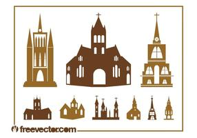 Church Silhouettes Set