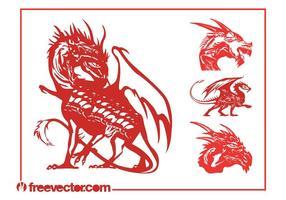Vector Dragons Set
