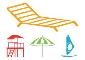 Beach Graphics Set