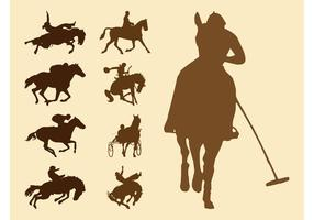 Equestrian Sports Silhouettes