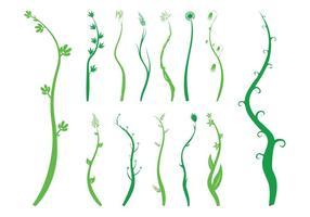 Waving Pflanzen Silhouetten