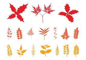 Silhouettes aux feuilles d'automne