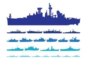 Ship Silhouettes Set