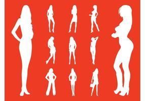 Modèles de mode vecteurs silhouettes