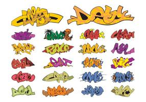 Graffiti Pieces Grafik Set