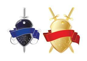 Escudos brillantes y espadas