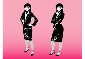 Cartoon Businesswomen