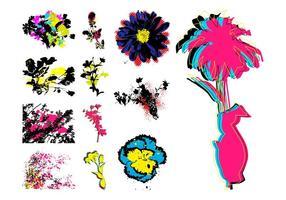Grunge Retro Flowers