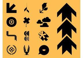 Coola ikoner vektorer Set
