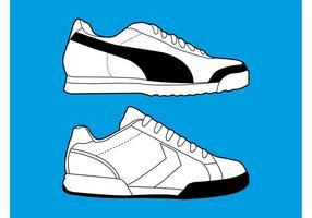 Graphiques de chaussures de sport