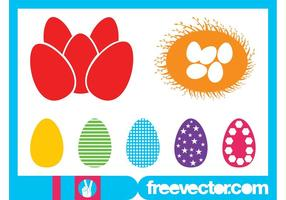 Easter Eggs Silhouettes