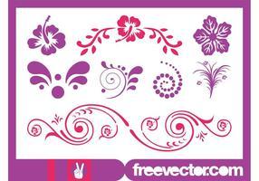 Scrolls de fleurs exotiques