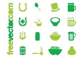 Saint Patricks Day Icons Set
