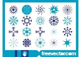 Ensemble de graphiques de flocons de neige