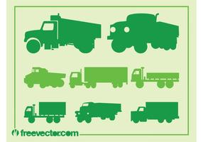 Ensemble de silhouette de camion