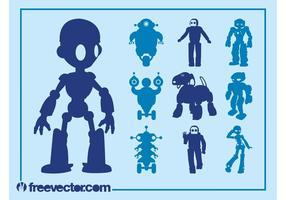 Roboter-Grafik-Set