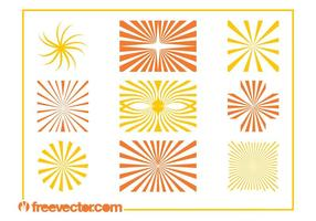 Starburst patterns graphics