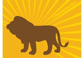 Imagem da silhueta do leão