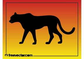 Zwart Panther Silhouet