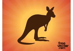 Känguruh-Silhouette