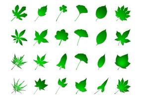 Gröna blad Set
