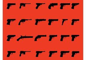 Handguns Vector Graphics Set