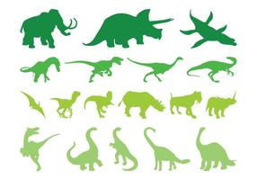 Siluetas de animales prehistóricos