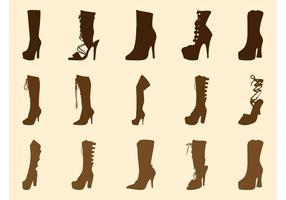 Hoge hakken laarzen graphics