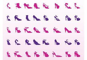 High-heel-shoes-set