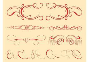 Vintage Decorative Swirls Set