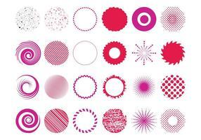 Conjunto de desenhos circulares