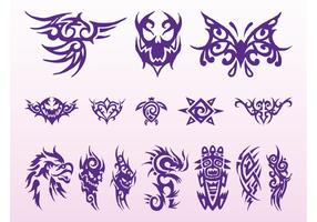 Tribal tattoos grafische set