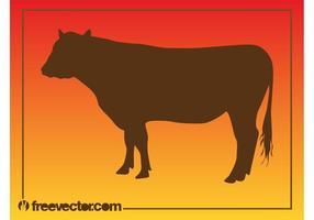 Graphiques de silhouette de vache