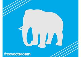 Vector Olifant Silhouet