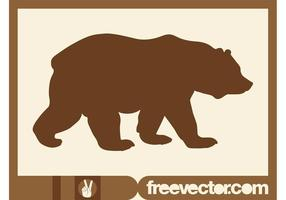 Walking Bear Silhouette