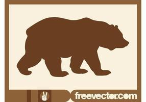 Silueta del oso que camina
