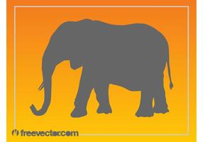 Elephant Silhouette Vector Graphics