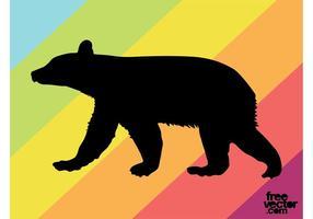 Silueta del oso Cub