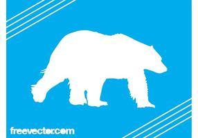 Eisbär Silhouette