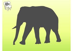 Vector Elephant Silhouette Graphics