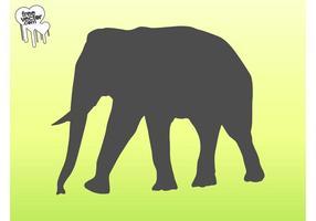 Vector Elephant silueta gráficos