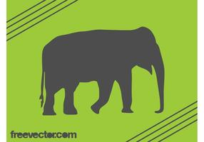 Olifant silhouet vector