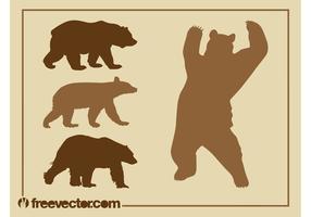 Bear Silhouettes Set