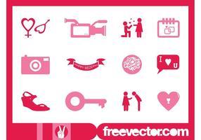 Grafieken voor bruiloft iconen
