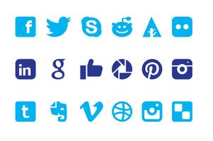 social media logos. social media icons graphics logos