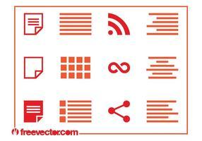 Conjunto de ícones de formatação